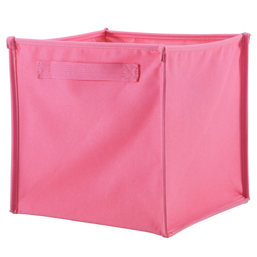 I Think I Canvas Pink Cube Bin