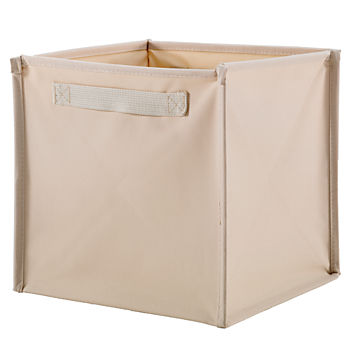 I Think I Canvas Khaki Cube Bin