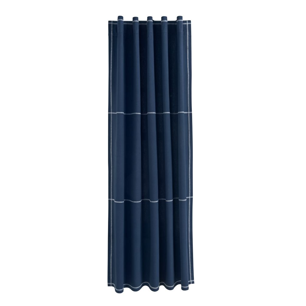"63"" Canvas Curtain (Blue)"