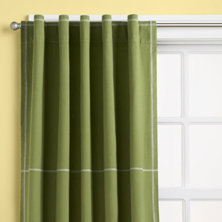 Kids Curtains: Kids Green Canvas Curtain Panels - 63 Green Canvas Panel <br />(sold individually)