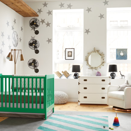 Star Bright Wall Decal (Silver) - Silver Star Bright Wall Decal