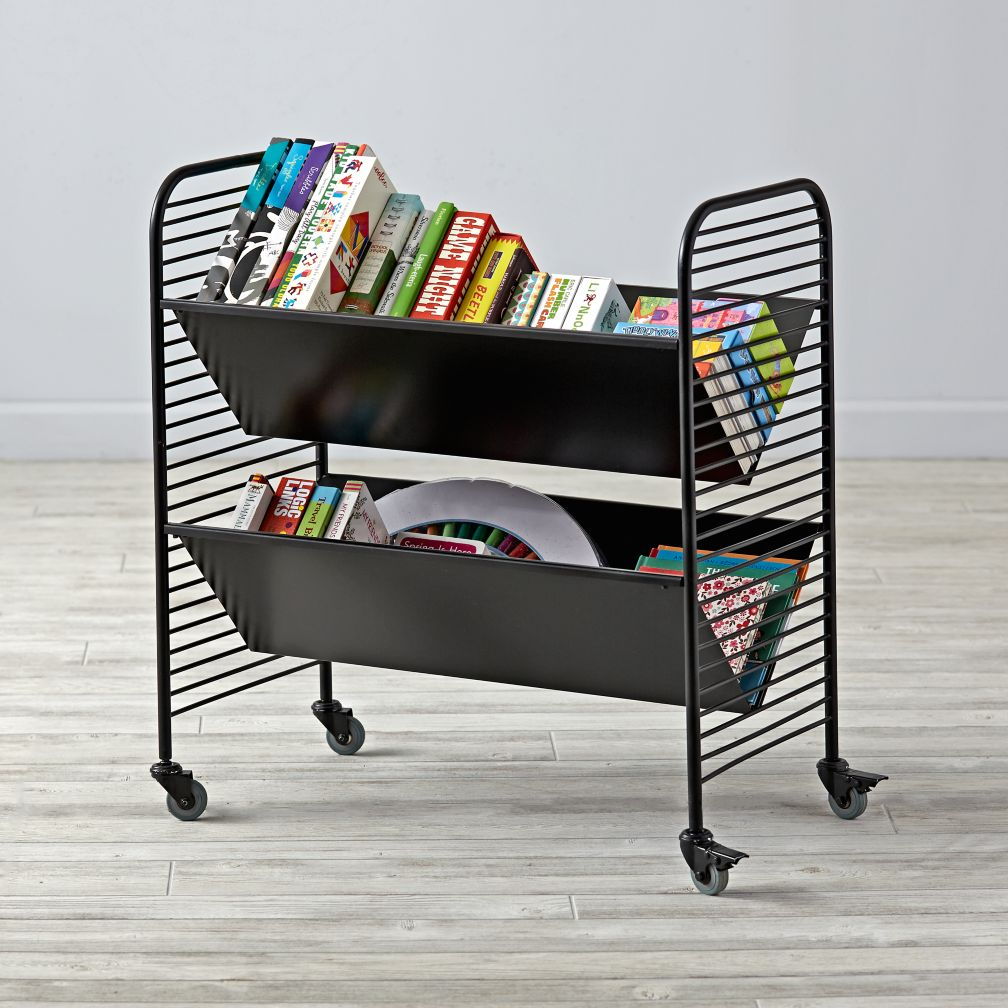 Linear Book Cart (Black)