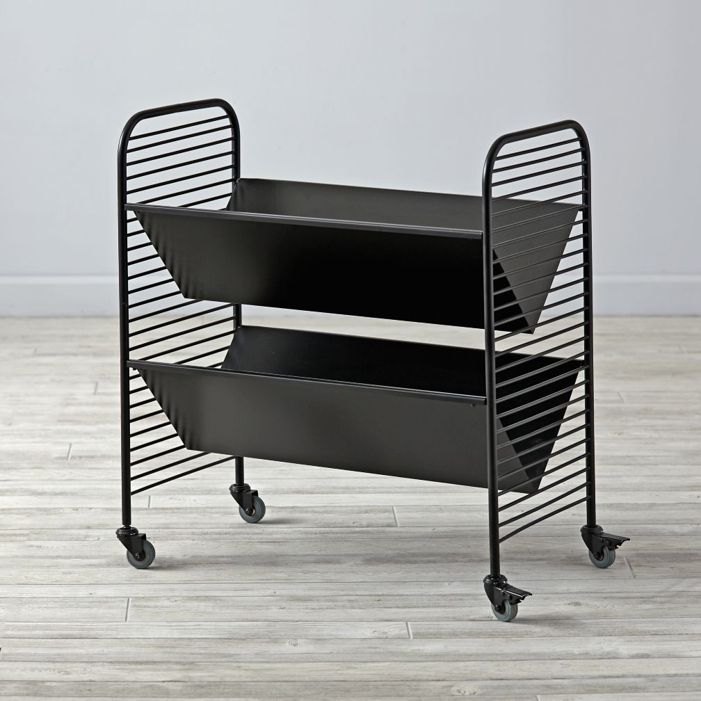 Eric Trine Linear Black Book Cart