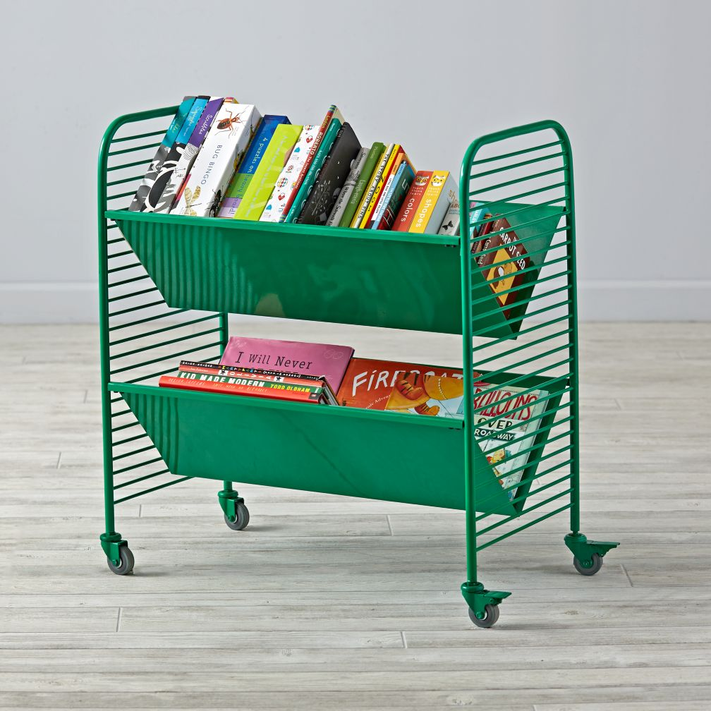 Linear Book Cart (Green)