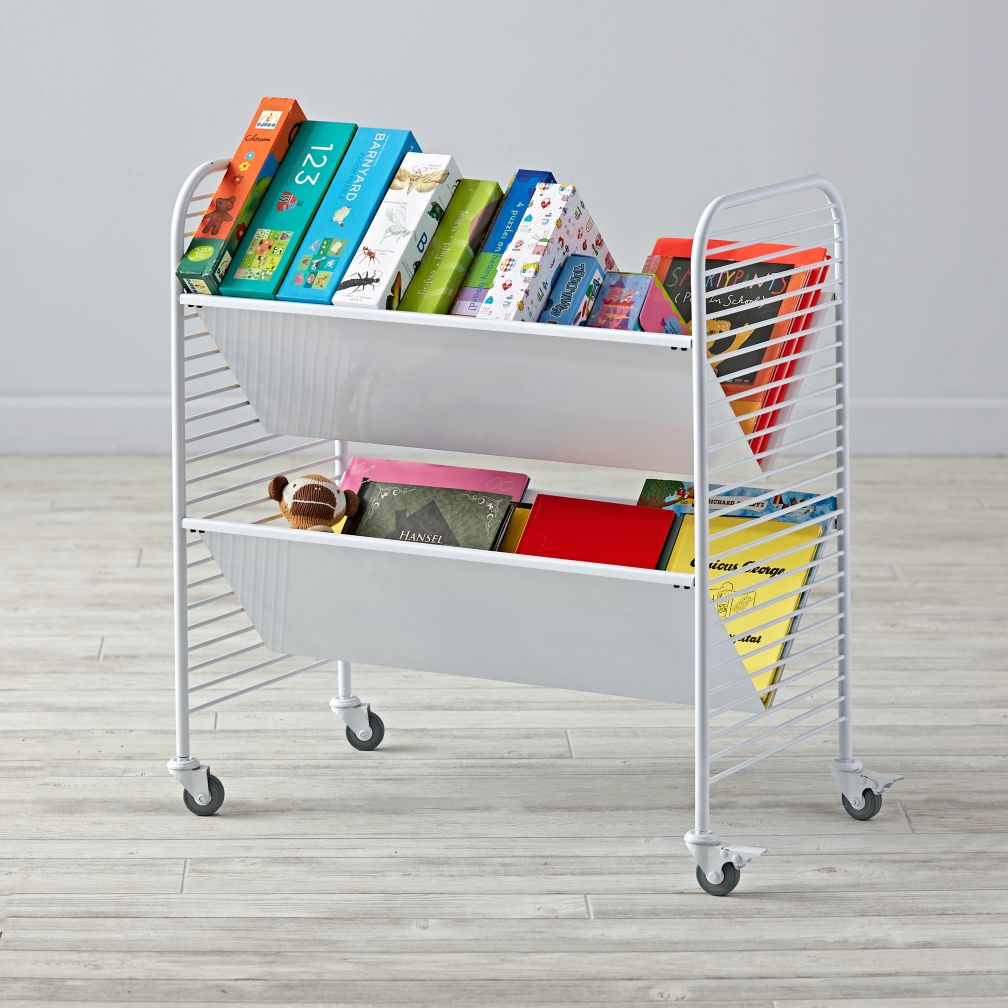 Linear Book Cart (White)