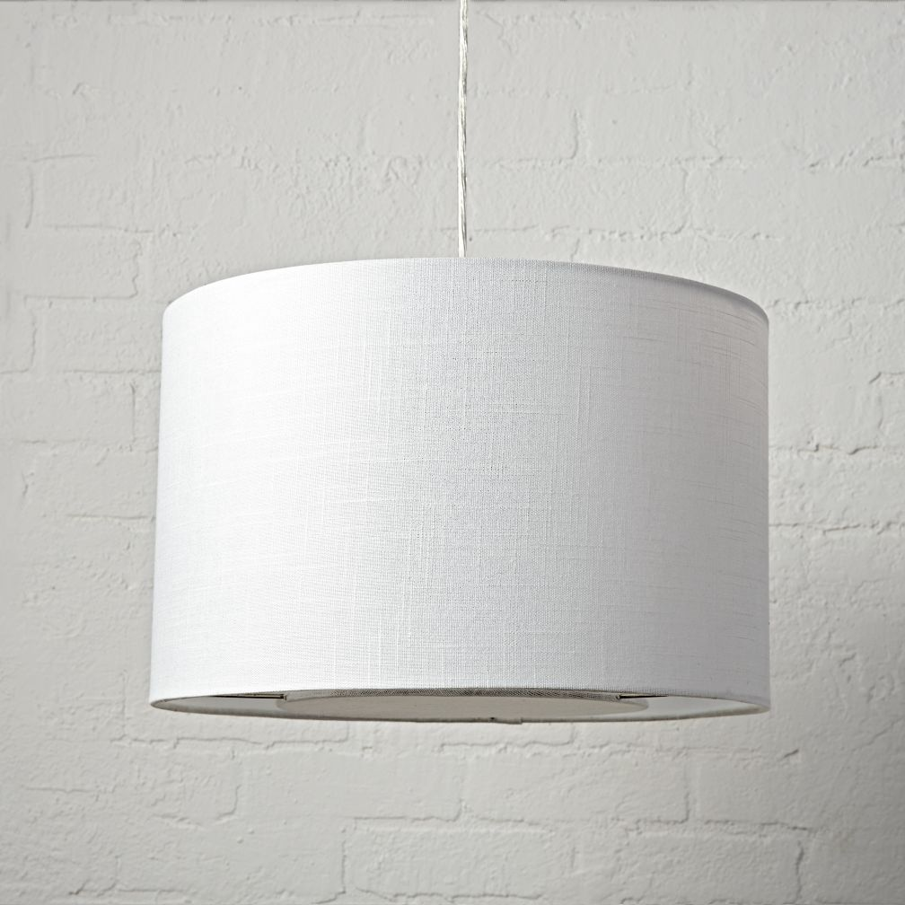 Hangin' Around White Textured Ceiling Light