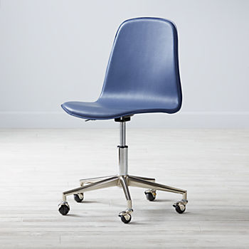 Class Act Dark Blue & Silver Desk Chair