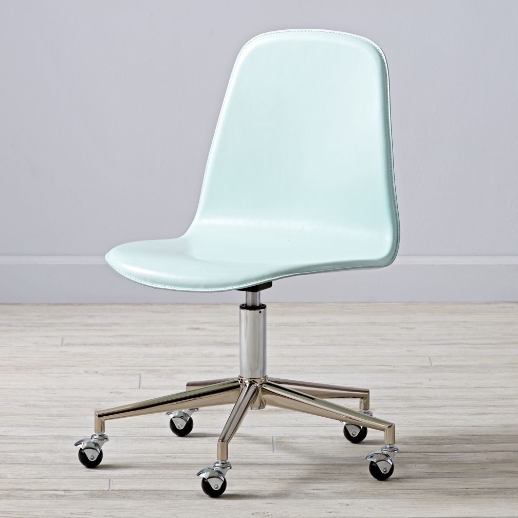 Class Act Mint & Silver Desk Chair