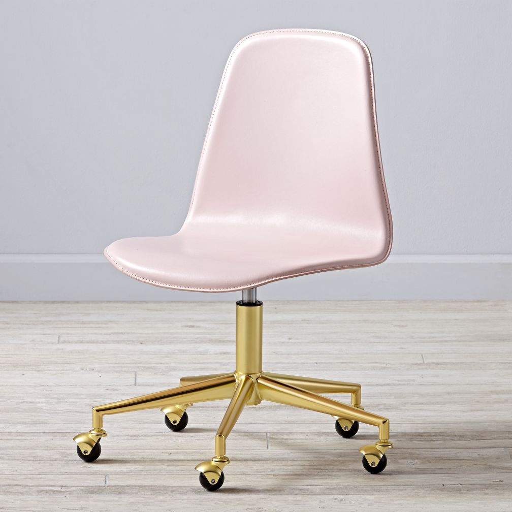Class Act Pink & Gold Desk Chair