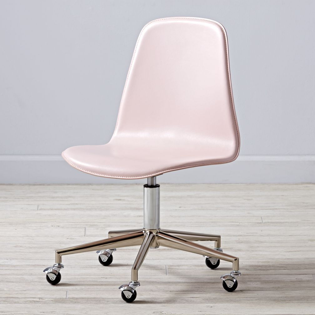 Pink Silver Class Act Desk Chair The Land Of Nod