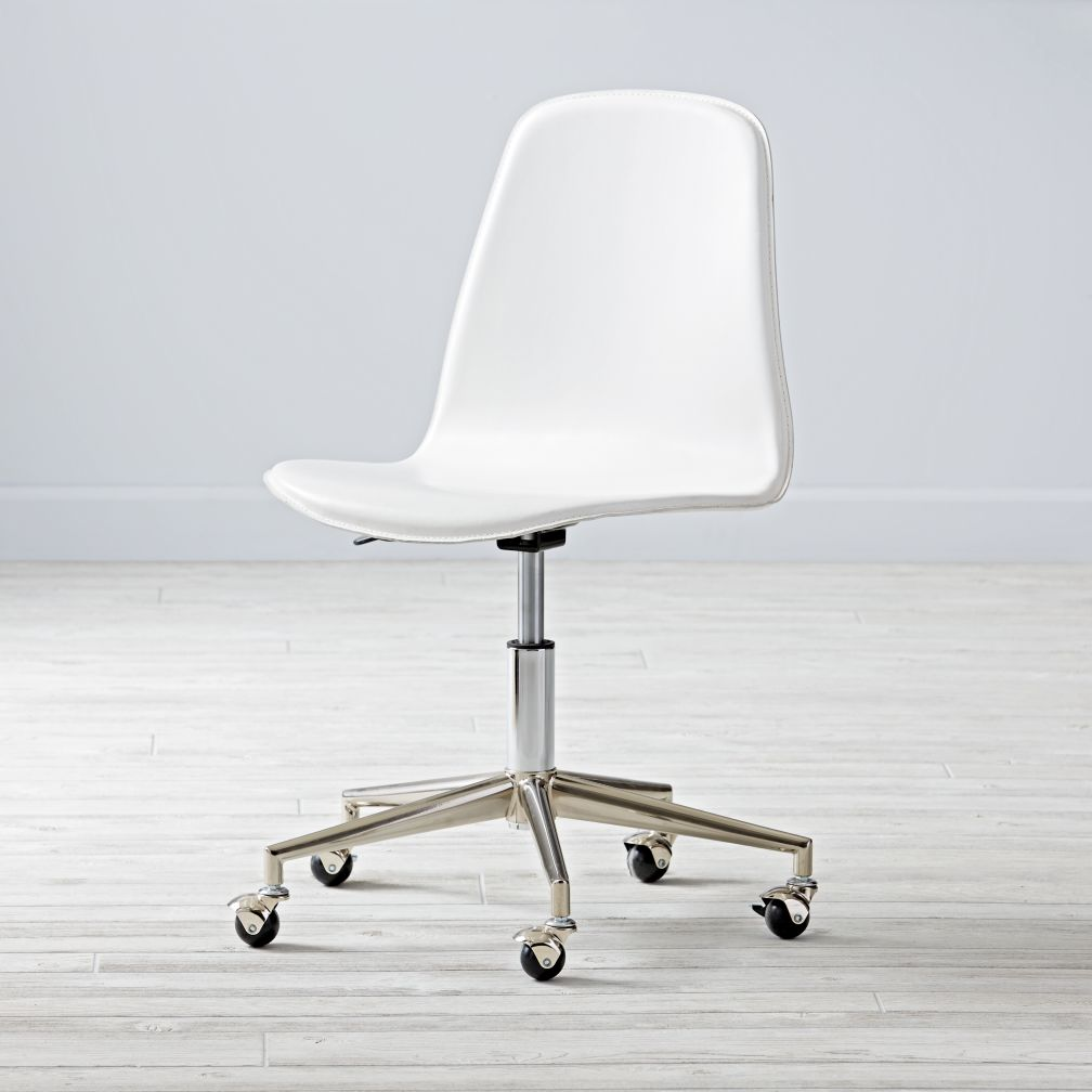 Class Act White & Silver Desk Chair