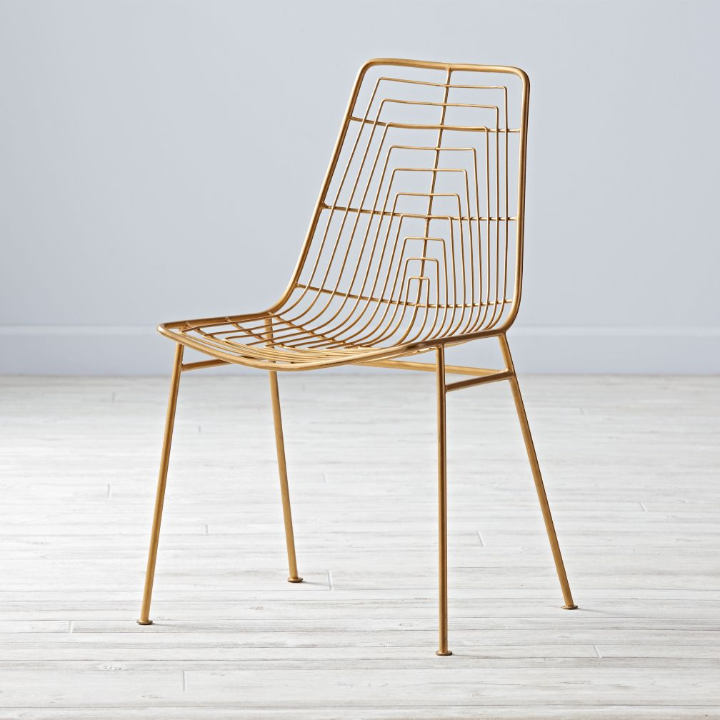 Domino Desk Chair (Gold)