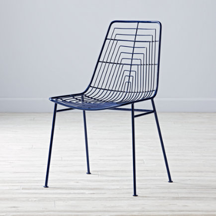 Domino Desk Chair (Navy) - Navy Domino Desk Chair