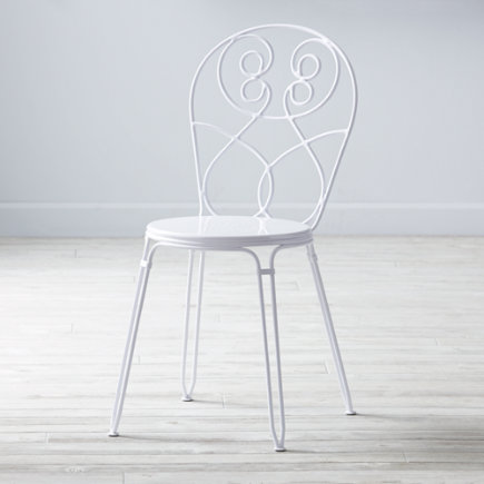 Kids Chairs: Kids White Play Chair - White Looking Glass Desk Chair
