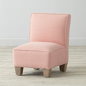 Petite Upholstered Chair (Linen Petal)
