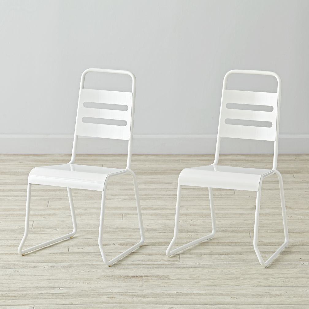Set of 2 Homeroom White Kids Chairs