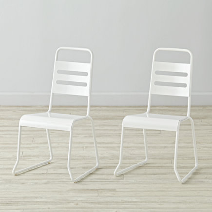 - Set Of 2 Homeroom White Kids Chairs<br /><br />floor To Seat: 14