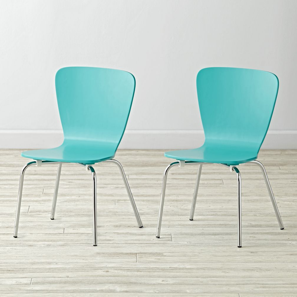 Set of 2 Little Felix Azure Kids Chairs