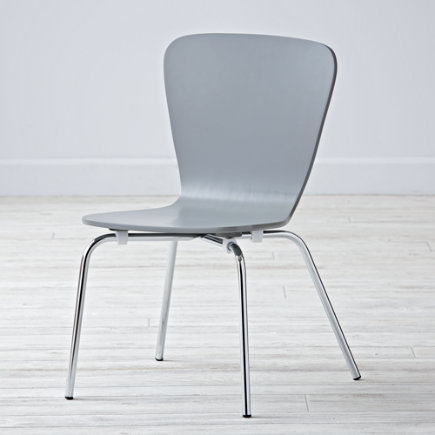 Kids Desk Chairs: Kids Painted Grey Chair with Metal Legs - Grey Little Felix ChairFloor to Seat: 14 H