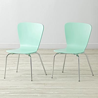 Set of 2 Little Felix Mint Kids Chairs