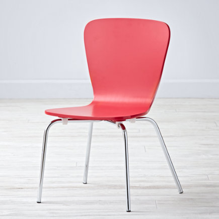 Kids Desk Chairs: Kids Painted Red Chair with Metal Legs - Red Little Felix ChairFloor to Seat: 14 H