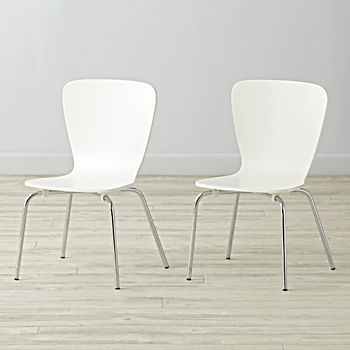 Set of 2 Little Felix White Kids Chairs