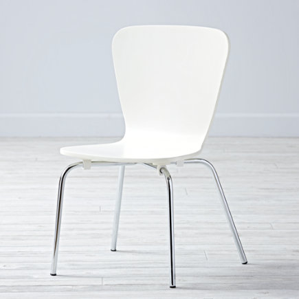 Kids Desk Chairs: Kids Painted White Chair with Metal Legs - White Little Felix ChairFloor to Seat: 14 H