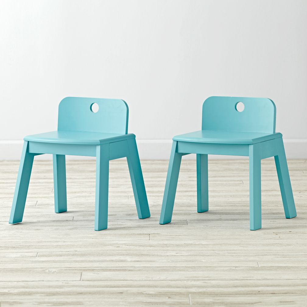 Set of 2 Mojo Aqua Kids Chairs