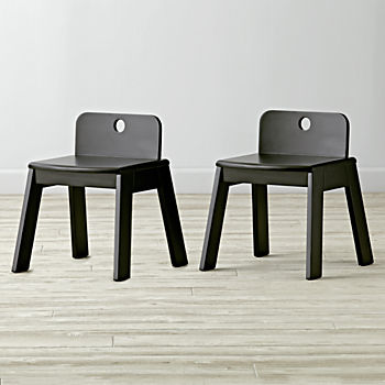 Set of 2 Mojo Black Kids Chairs