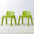 Set of 2 Mojo Green Kids Chairs