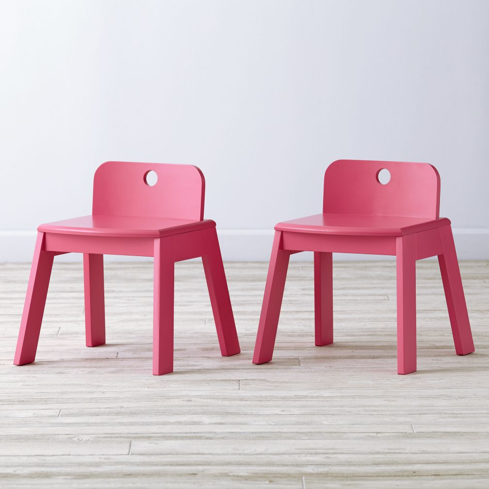 Set of 2 Mojo Pink Kids Chairs