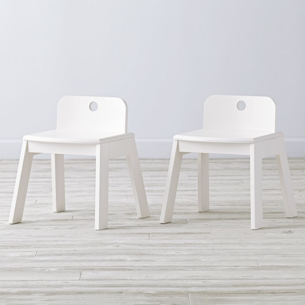Set of 2 Mojo White Kids Chairs