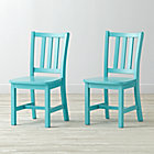 Set of 2 Azure Parker Play Chairs