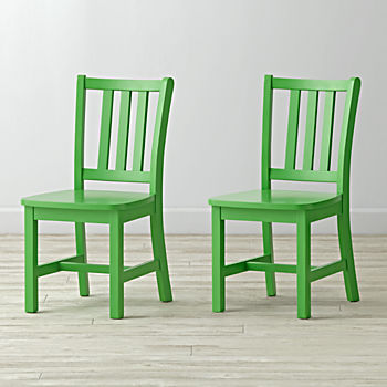 Set of 2 Parker Bright Green Kids Chairs