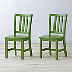 Set of 2 Parker Green Kids Chairs