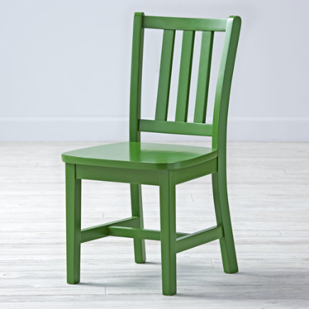 Kids Chairs: Kids Green Wooden Parker Play Chairs - Green Parker Play ChairFloor to Seat: 14 H