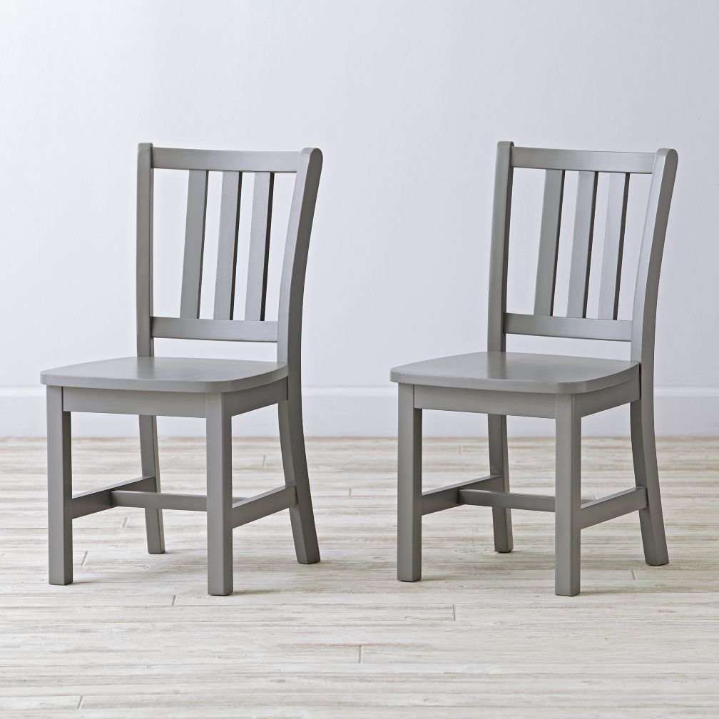 Set of 2 Grey Parker Play Chairs