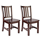 Set of 2 Espresso Parker Play Chairs