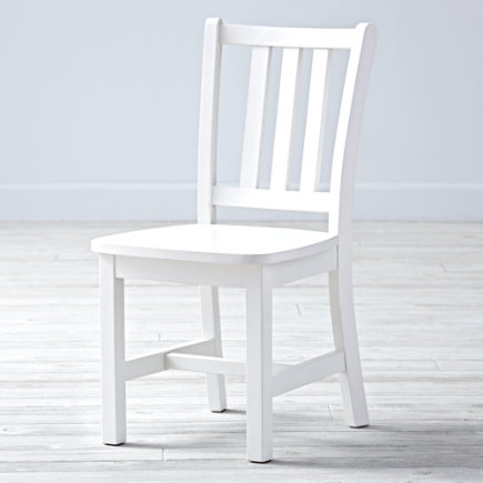 Kids Chairs: Kids White Wooden Parker Play Chairs - White Parker Play ChairFloor to Seat: 14 H