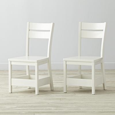 Set of 2 Porter White Kids Chair