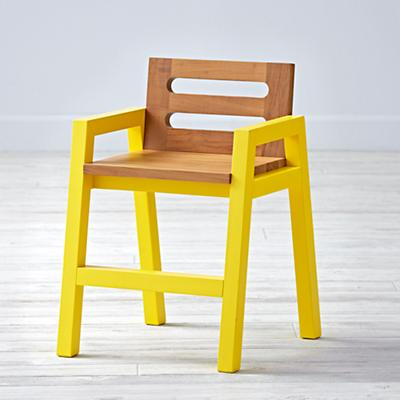 Two-Tone Teak Play Chair (Yellow)