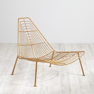 Domino Lounge Chair (Gold)