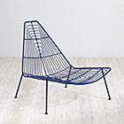Navy Domino Lounge Chair