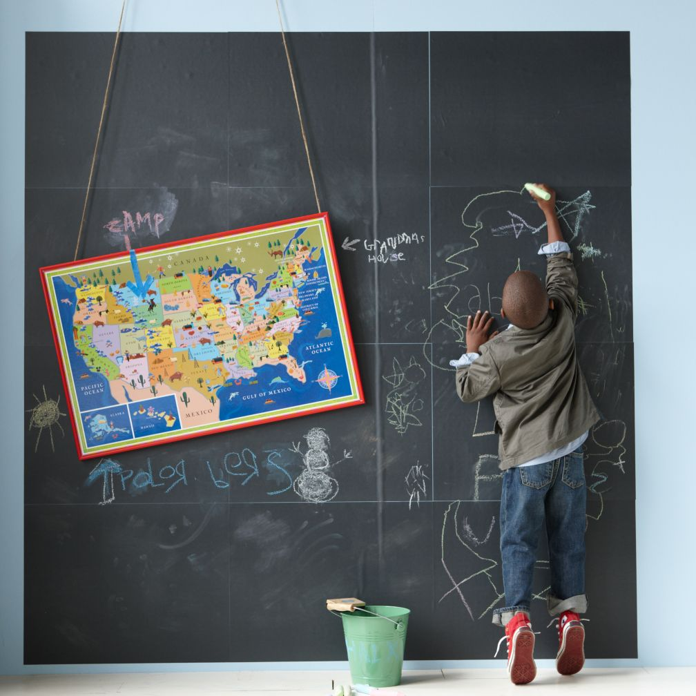 Kids' Magnet Boards & Chalkboards: Kids Peel and Stick Chalkboard