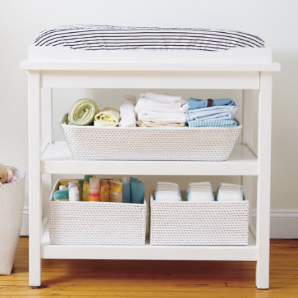 Baby Changers: Baby White Durable Changing Table - White Changer