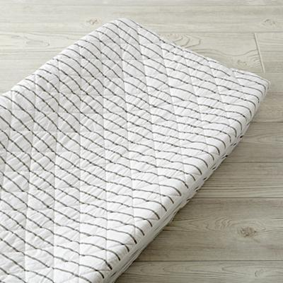 Wild Excursion Grey Stripe Organic Changing Pad Cover