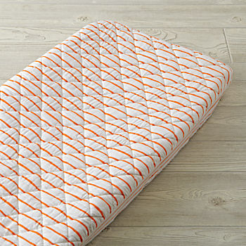 Wild Excursion Orange Stripe Changing Pad Cover