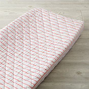 Wild Excursion Pink Stripe Changing Pad Cover