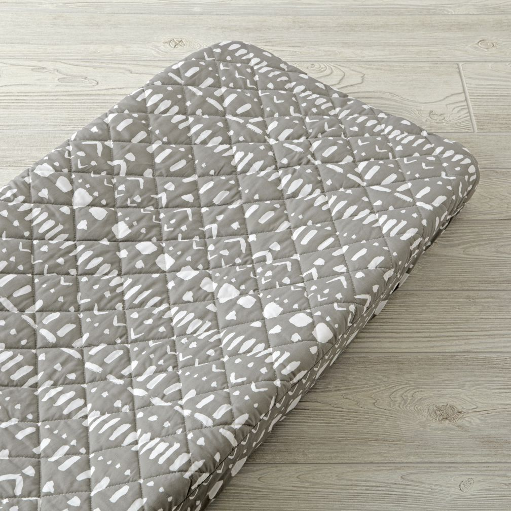 Wild Excursion Grey Tribal Organic Changing Pad Cover