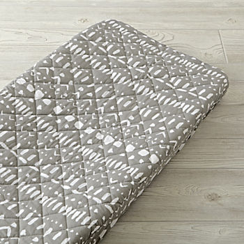 Organic Wild Excursion Grey Tribal Changing Pad Cover